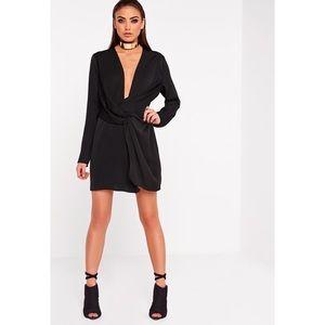 6a5bc706e3ab9 Missguided Dresses - ✨🖤 MISSGUIDED BLACK SATIN WRAP DRESS🖤✨